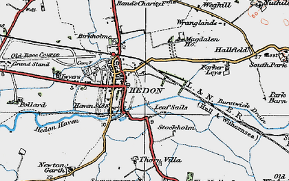 Old map of Wranglands in 1924