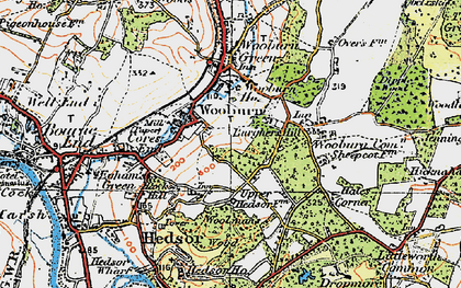 Old map of Hedsor in 1920