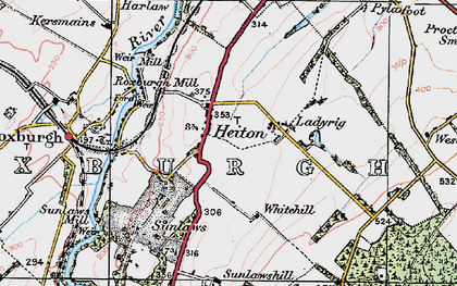 Old map of Wester Softlaw in 1926