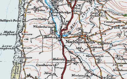 Old map of Whalesborough in 1919