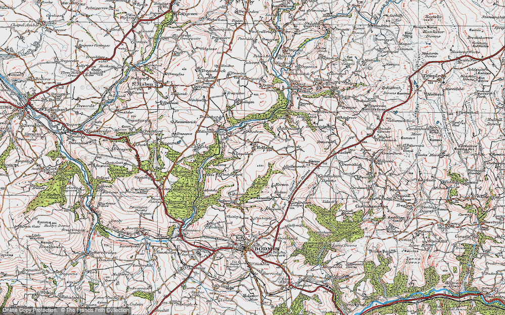 Old Map of Historic Map covering Lemar in 1919