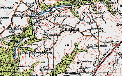 Old map of Lemar in 1919