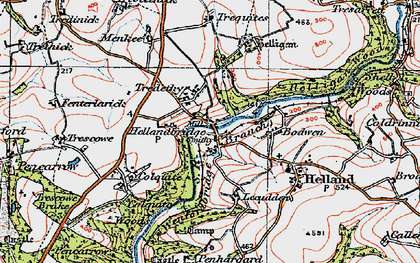 Old map of Hellandbridge in 1919