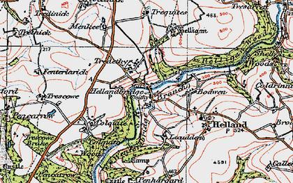 Old map of Hellandbridge in 1919