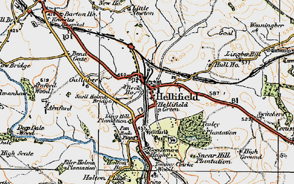 Old map of Hellifield in 1924