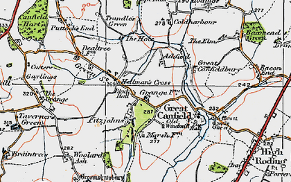 Old map of Woolard's Ash in 1919
