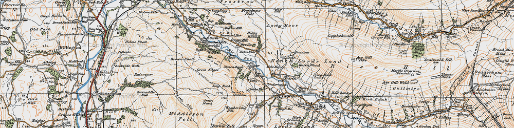 Old map of Whitbeck in 1925