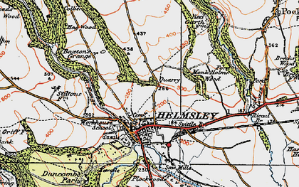 Old map of Helmsley in 1925
