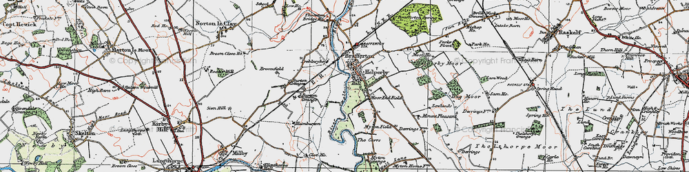 Old map of Helperby in 1925