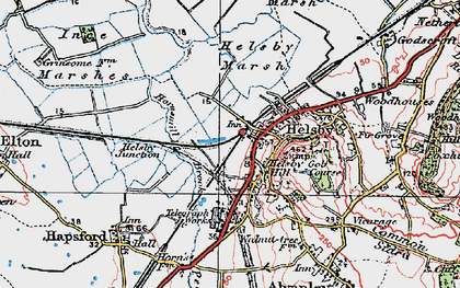 Old map of Helsby in 1924