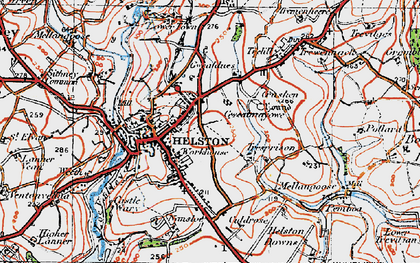 Old map of Helston in 1919