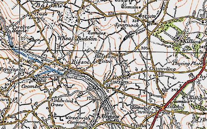 Old map of Helston Water in 1919