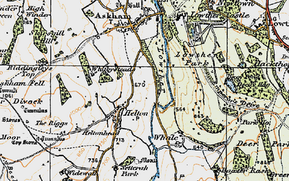 Old map of Askham Fell in 1925