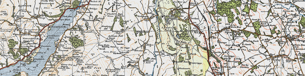 Old map of Widewath in 1925