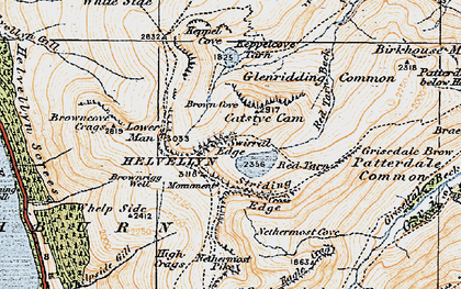 Old map of Whelp Side in 1925