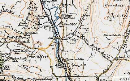 Old map of Bargh Ho in 1924