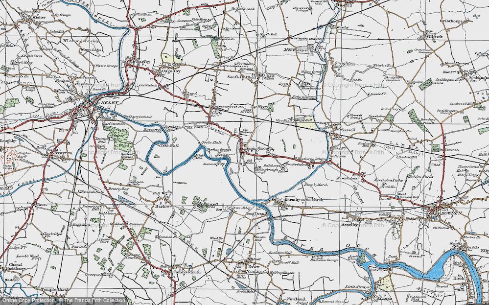 Old Map of Hemingbrough, 1924 in 1924