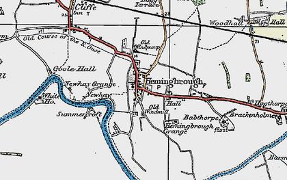 Old map of Hemingbrough in 1924