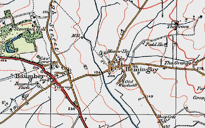 Old map of Asterby Grange in 1923