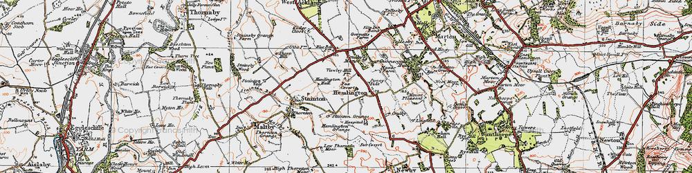 Old map of Hemlington in 1925