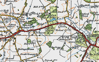 Old map of Yoxford Wood in 1921