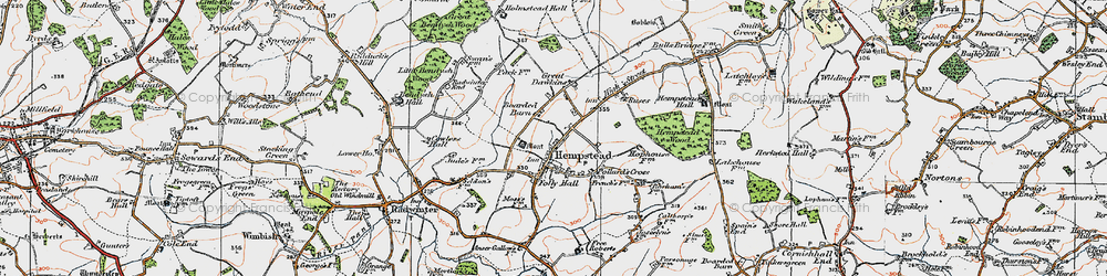 Old map of Wincelow Hall in 1920