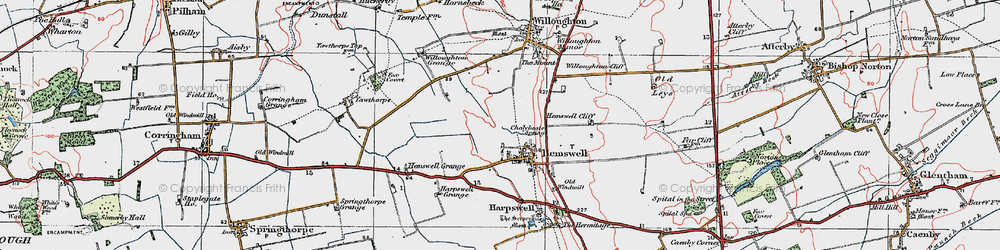 Old map of Hemswell in 1923