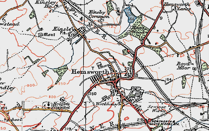 Old map of Hemsworth in 1924