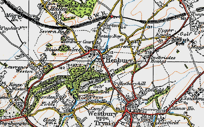 Old map of Henbury in 1919