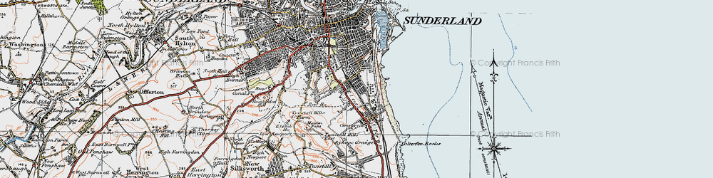 Old map of Hendon in 1925
