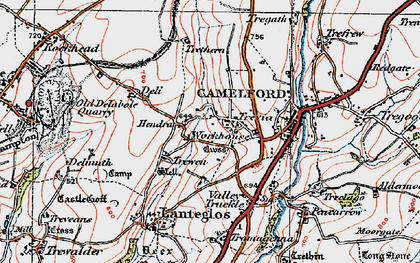 Old map of Hendra in 1919