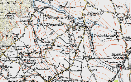 Old map of Hendra Croft in 1919
