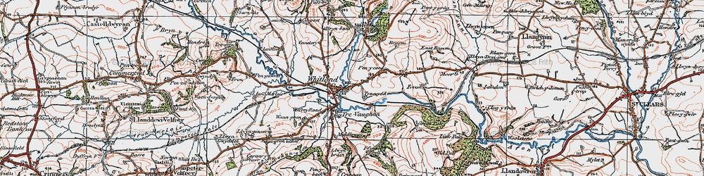 Old map of West Regwm in 1922