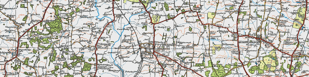Old map of Woodhouse in 1920