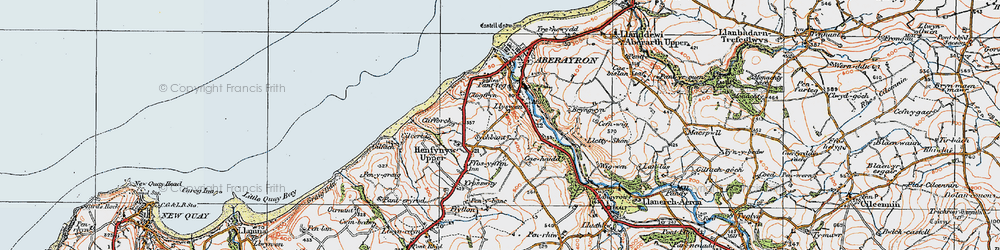 Old map of Wig-wen in 1923