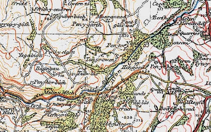 Old map of Hengoed in 1922