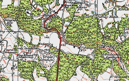 Old map of Henley in 1919
