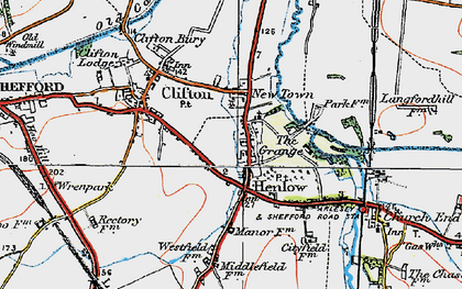 Old map of Henlow in 1919