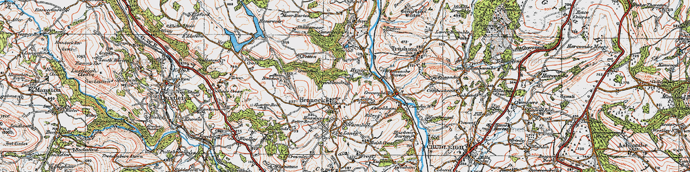 Old map of Whetcombe Barton in 1919