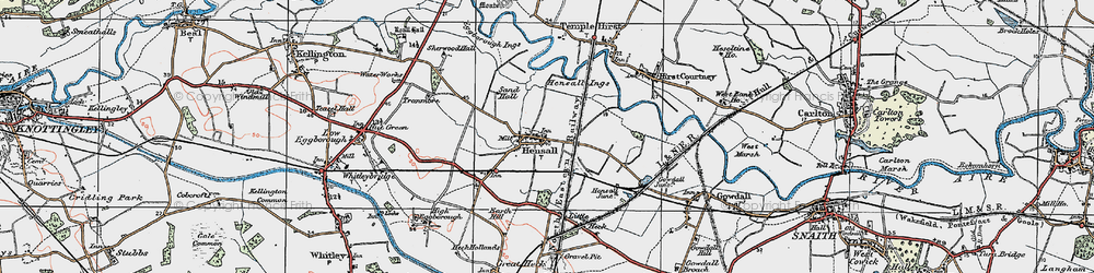 Old map of Hensall in 1924