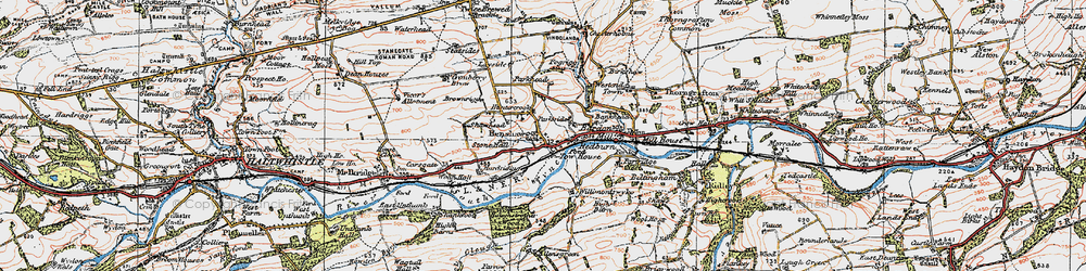 Old map of Allensgreen in 1925