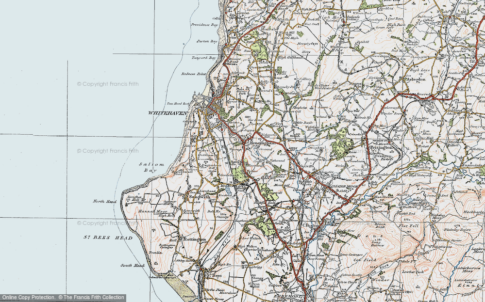 Old Map of Hensingham, 1925 in 1925