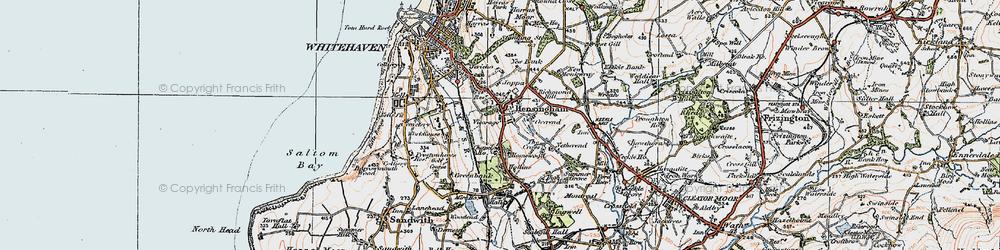 Old map of Hensingham in 1925