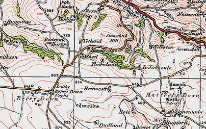Old map of Yellaton in 1919