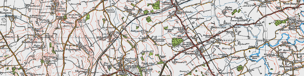 Old map of Toomer Hill in 1919
