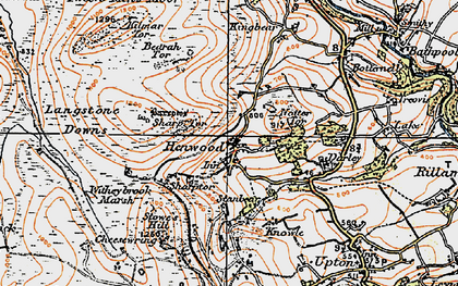 Old map of Henwood in 1919