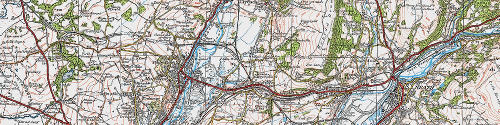 Old map of Heol Las in 1923