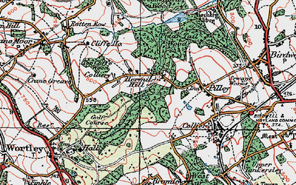 Old map of Lane Royds Park in 1924