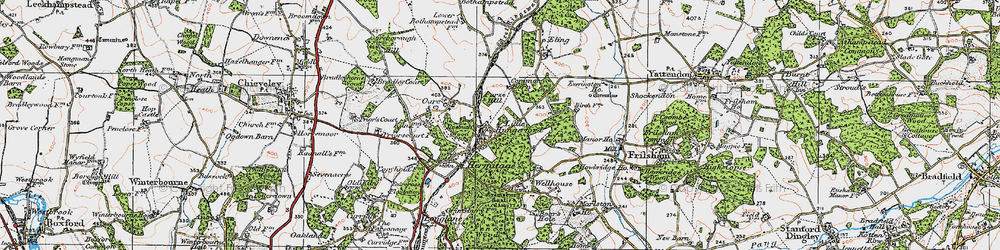 Old map of Hermitage in 1919