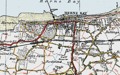 Old map of Herne Bay in 1920